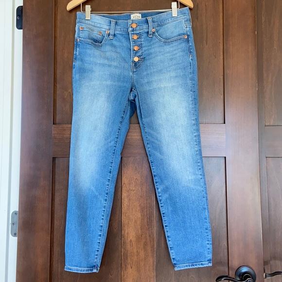 J. Crew Toothpick Jeans. Size 29P